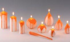 Kerzen übergossen