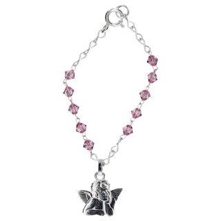 taufarmband aus swarovski perlen rosa mit raphael engel kerzen zum 12 50. Black Bedroom Furniture Sets. Home Design Ideas