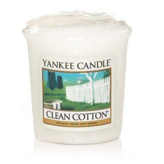 Yankee Candle Votivkerze mit Duft Clean Cotton