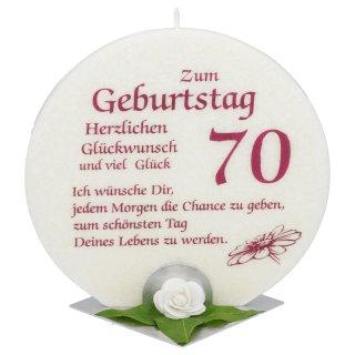 Jubiläumskerze Zum Geburtstag 70 Jahre Mit Spruch Kerzen Zum