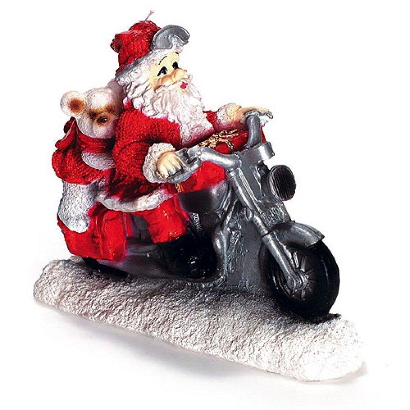 weihnachtsmann mit motorrad rot kerzen zum bestpreis bei. Black Bedroom Furniture Sets. Home Design Ideas