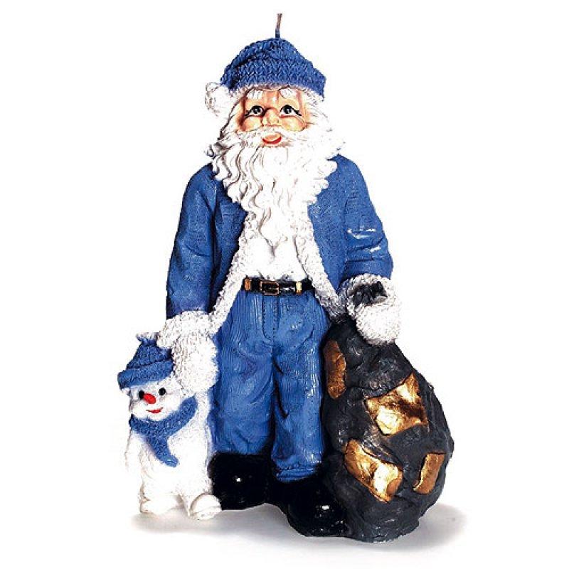 weihnachtsmann mit sack blau kerzen zum bestpreis bei. Black Bedroom Furniture Sets. Home Design Ideas