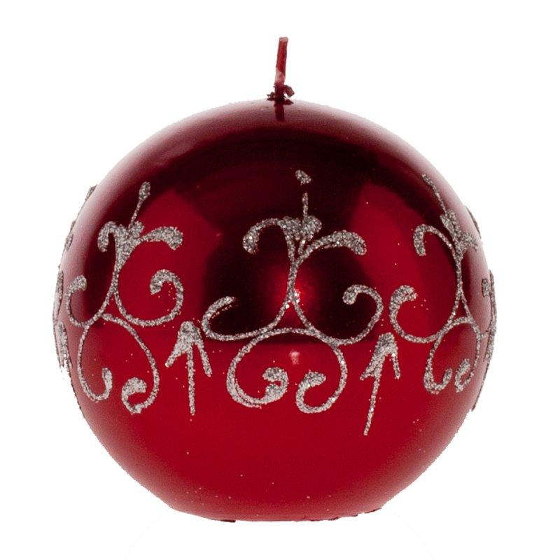 weihnachtskugel barock rot 100 mm kerzen zum bestpreis. Black Bedroom Furniture Sets. Home Design Ideas